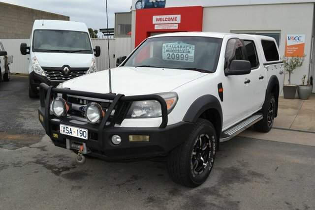 Used Ford Ranger PK XL (4x4), 2010 Ford Ranger PK XL (4x4) White 5 Speed Automatic Dual Cab Pick-up