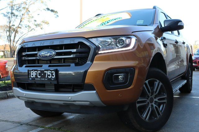 Used Ford Ranger PX MkIII 2019.75MY Wildtrak, 2019 Ford Ranger PX MkIII 2019.75MY Wildtrak Saber 10 Speed Sports Automatic Double Cab Pick Up