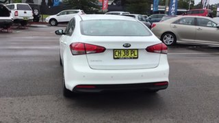 2016 Kia Cerato YD MY17 S White 6 Speed Sports Automatic Sedan.