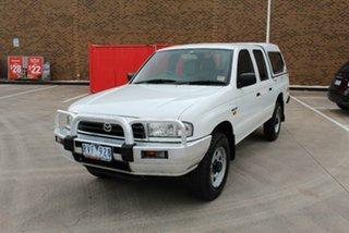 2002 Mazda B2500 Bravo DX Cab Plus (4x4) White 5 Speed Manual 4x4 Cab Chassis.