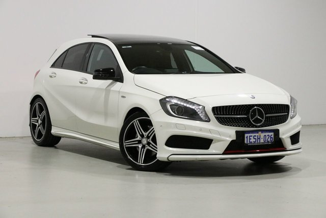 Used Mercedes-Benz A250 176 MY15 Sport, 2015 Mercedes-Benz A250 176 MY15 Sport White 7 Speed Automatic Hatchback