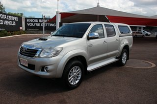 2014 Toyota Hilux KUN26R MY14 SR5 Double Cab Sterling Silver 5 Speed Automatic Utility.