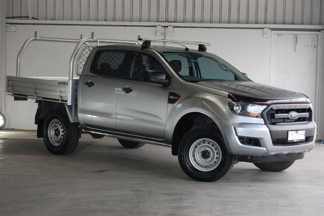 Used Ford Ranger PX MkII XL Hi-Rider, 2016 Ford Ranger PX MkII XL Hi-Rider Aluminium 6 Speed Sports Automatic Cab Chassis