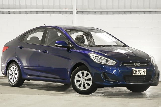 Used Hyundai Accent RB4 MY17 Active, 2017 Hyundai Accent RB4 MY17 Active Blue 6 Speed Constant Variable Sedan