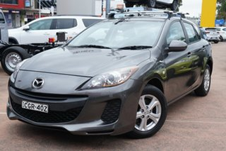 2012 Mazda 3 BL 11 Upgrade Neo Grey 6 Speed Manual Hatchback.