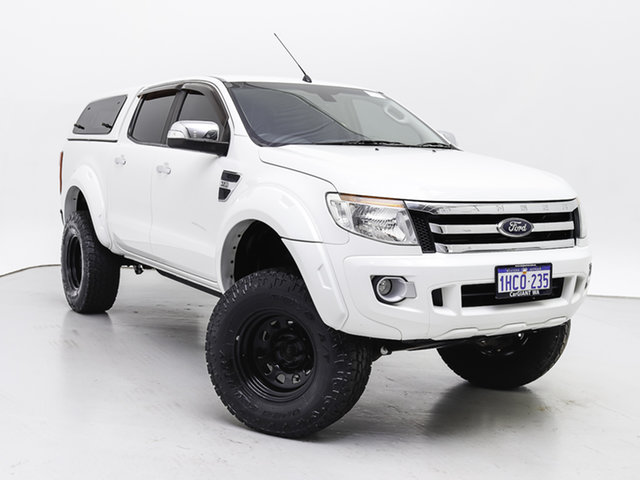 Used Ford Ranger PX XLT 3.2 (4x4), 2014 Ford Ranger PX XLT 3.2 (4x4) White 6 Speed Automatic Double Cab Pick Up