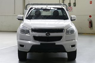 2015 Holden Colorado RG MY15 LS (4x4) Summit White 6 Speed Manual Cab Chassis