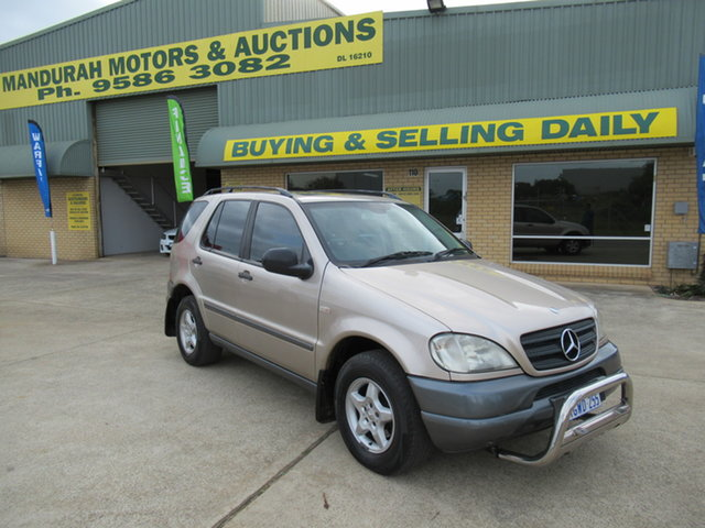 Used Mercedes-Benz ML320 W163 ML320 Classic Mandurah, 2001 Mercedes-Benz ML320 W163 ML320 Classic Gold 5 Speed Automatic Sedan