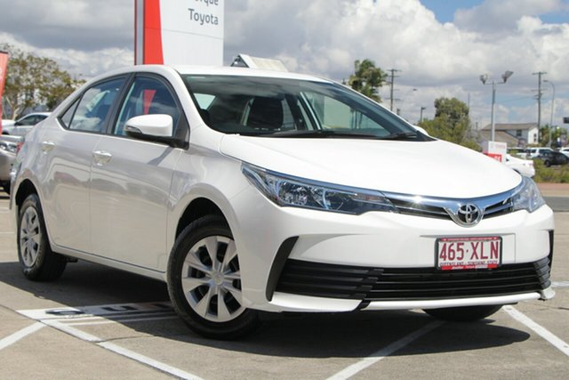 Used Toyota Corolla ZRE172R Ascent S-CVT, 2017 Toyota Corolla ZRE172R Ascent S-CVT Glacier White 7 Speed Constant Variable Sedan