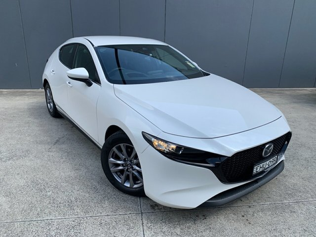 Demo Mazda 3 BP2H7A G20 SKYACTIV-Drive Pure, 2020 Mazda 3 BP2H7A G20 SKYACTIV-Drive Pure Snowflake White 6 Speed Sports Automatic Hatchback