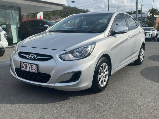 Used Hyundai Accent RB Active, 2013 Hyundai Accent RB Active Silver 4 Speed Sports Automatic Sedan