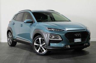 2019 Hyundai Kona OS.2 MY19 Highlander D-CT AWD Blue 7 Speed Sports Automatic Dual Clutch Wagon.