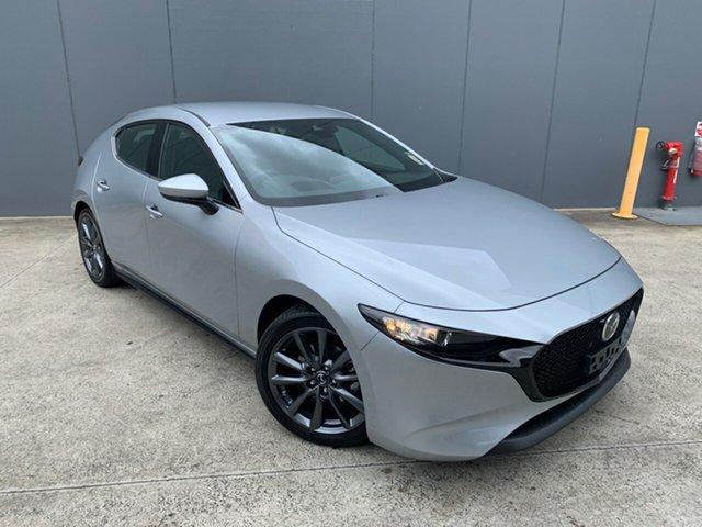 New Mazda 3 BP2HLA G25 SKYACTIV-Drive GT, 2020 Mazda 3 BP2HLA G25 SKYACTIV-Drive GT Sonic Silver 6 Speed Sports Automatic Hatchback