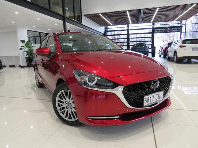 Demo Mazda 2 DJ2HAA G15 SKYACTIV-Drive GT, 2020 Mazda 2 DJ2HAA G15 SKYACTIV-Drive GT Soul Red Crystal 6 Speed Sports Automatic Hatchback