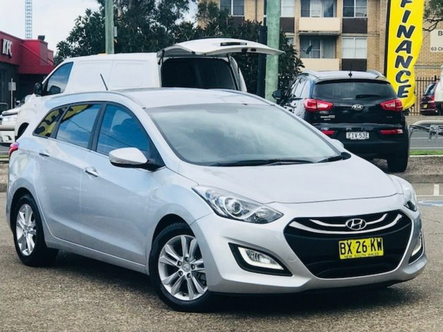 Used Hyundai i30 GD Elite Tourer, 2013 Hyundai i30 GD Elite Tourer Silver 6 Speed Sports Automatic Wagon