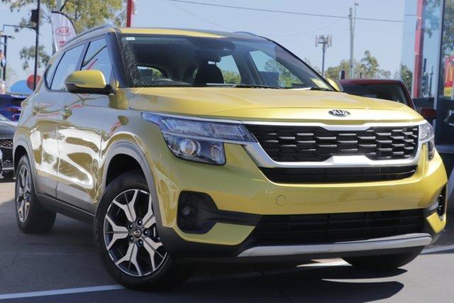 New Kia Seltos SP2 MY20 Sport 2WD, 2020 Kia Seltos SP2 MY20 Sport 2WD Starbright Yellow 1 Speed Constant Variable Wagon