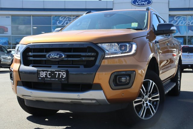Used Ford Ranger PX MkIII 2020.25MY Wildtrak, 2019 Ford Ranger PX MkIII 2020.25MY Wildtrak Saber 6 Speed Sports Automatic Double Cab Pick Up