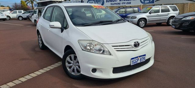 Used Toyota Corolla ZRE152R MY11 Ascent East Bunbury, 2012 Toyota Corolla ZRE152R MY11 Ascent White 6 Speed Manual Hatchback