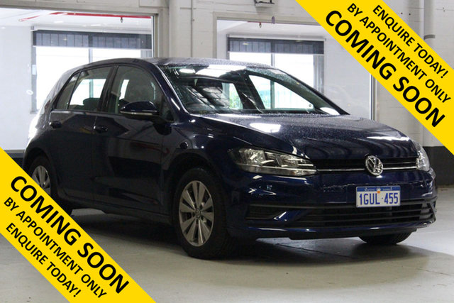 Used Volkswagen Golf AU MY19 Update 110 TSI Trendline, 2019 Volkswagen Golf AU MY19 Update 110 TSI Trendline Blue 7 Speed Auto Direct Shift Hatchback