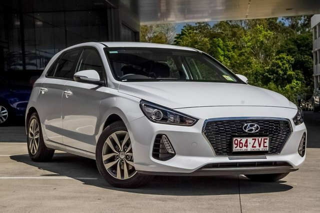 Demo Hyundai i30 PD2 MY20 Active, 2019 Hyundai i30 PD2 MY20 Active Polar White 6 Speed Sports Automatic Hatchback