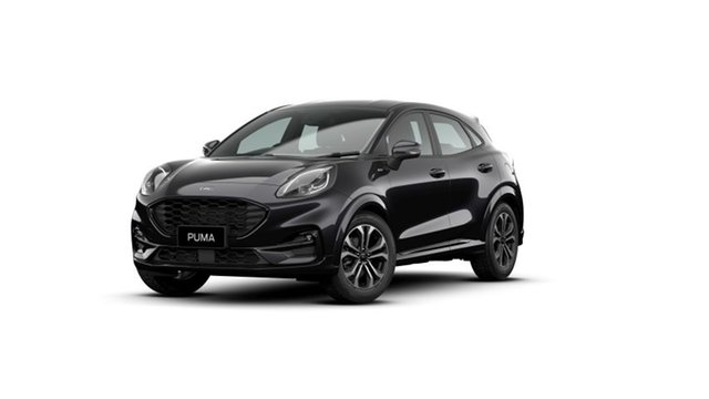 New Ford Puma JK 2021.25MY ST-Line Springwood, 2021 Ford Puma JK 2021.25MY ST-Line Black 7 Speed Sports Automatic Dual Clutch Wagon