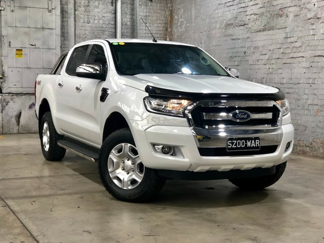 Used Ford Ranger PX MkII XLT Double Cab, 2016 Ford Ranger PX MkII XLT Double Cab White 6 Speed Manual Utility