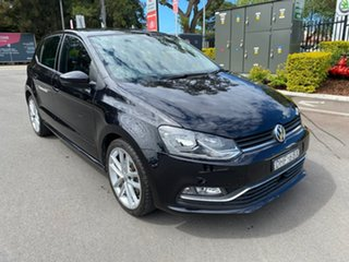 2016 Volkswagen Polo 6R MY16 81TSI DSG Comfortline Black 7 Speed Sports Automatic Dual Clutch