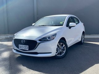 2020 Mazda 2 DL2SAA G15 SKYACTIV-Drive Pure Snowflake White 6 Speed Sports Automatic Sedan