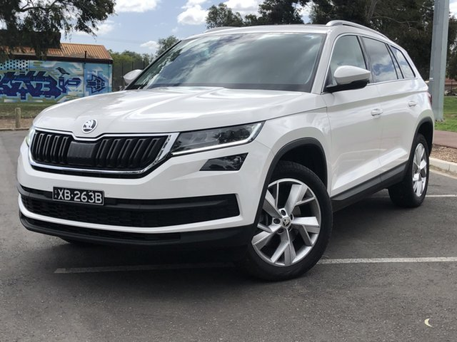 Used Skoda Kodiaq NS MY19 132TSI DSG Nailsworth, 2019 Skoda Kodiaq NS MY19 132TSI DSG White 7 Speed Sports Automatic Dual Clutch Wagon