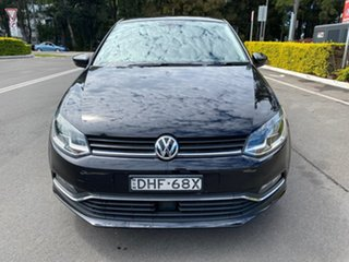 2016 Volkswagen Polo 6R MY16 81TSI DSG Comfortline Black 7 Speed Sports Automatic Dual Clutch.