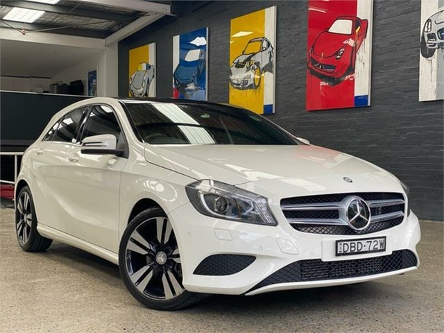 Used Mercedes-Benz A-Class W176 , 2015 Mercedes-Benz A-Class W176 A200 White Sports Automatic Dual Clutch Hatchback
