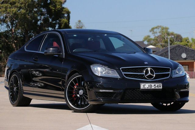 Used Mercedes-Benz C-Class C204 MY12 C63 AMG SPEEDSHIFT MCT, 2011 Mercedes-Benz C-Class C204 MY12 C63 AMG SPEEDSHIFT MCT Black 7 Speed Sports Automatic Coupe