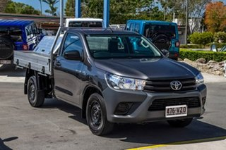 2015 Toyota Hilux TGN121R Workmate 4x2 Grey 5 Speed Manual Cab Chassis.