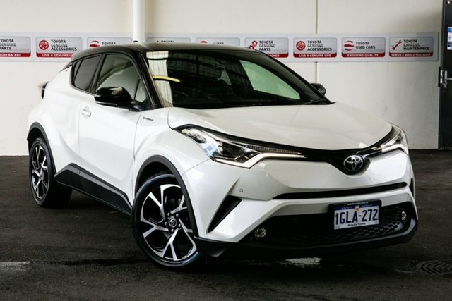 Used Toyota C-HR NGX10R Koba (2WD), 2017 Toyota C-HR NGX10R Koba (2WD) Crystal Pearl & Black Roof Continuous Variable Wagon