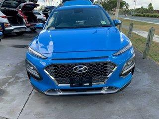 2020 Hyundai Kona OS.3 MY20 Elite D-CT AWD Blue Lagoon 7 Speed Sports Automatic Dual Clutch Wagon.