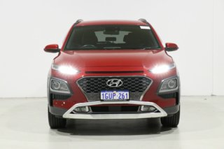 2019 Hyundai Kona OS.2 MY19 Elite (FWD) Red 6 Speed Automatic Wagon.