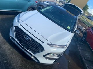2020 Hyundai Kona OS.3 MY20 Highlander D-CT AWD Chalk White & Black Roof 7 Speed.