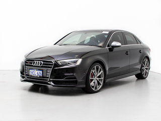 2016 Audi S3 8V MY16 2.0 TFSI Quattro Black 6 Speed Direct Shift Sedan.