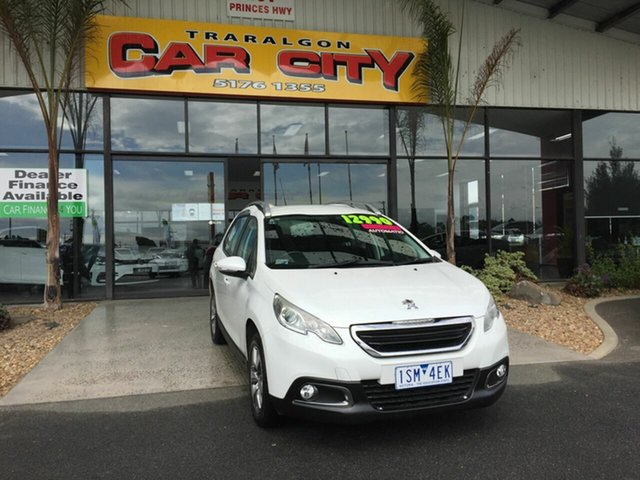 Used Peugeot 2008 Allure Traralgon, 2013 Peugeot 2008 Allure White 4 Speed Automatic Wagon