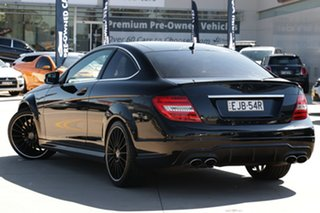 2011 Mercedes-Benz C-Class C204 MY12 C63 AMG SPEEDSHIFT MCT Black 7 Speed Sports Automatic Coupe.
