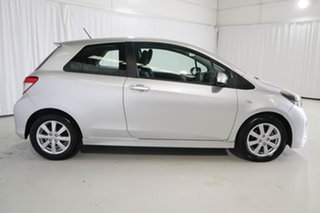 2011 Toyota Yaris NCP131R ZR Silver 5 Speed Manual Hatchback.