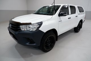 2017 Toyota Hilux GUN125R Workmate Double Cab 6 Speed Sports Automatic Utility.