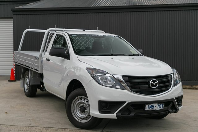 Demo Mazda BT-50 UR0YE1 XT 4x2, 2020 Mazda BT-50 UR0YE1 XT 4x2 Cool White 6 Speed Manual Cab Chassis