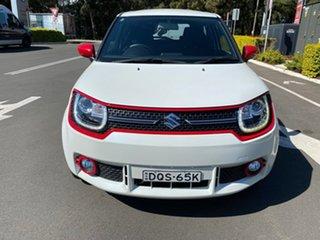 2017 Suzuki Ignis MF GLX White 1 Speed Constant Variable Hatchback.