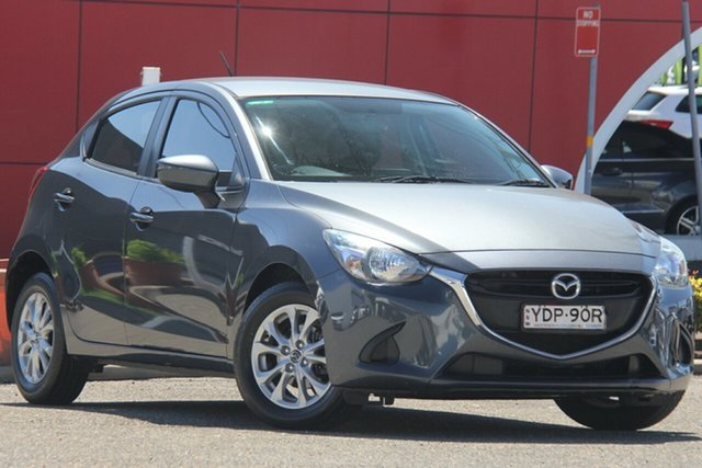 Used Mazda 2 DJ2HAA Maxx SKYACTIV-Drive Parramatta, 2015 Mazda 2 DJ2HAA Maxx SKYACTIV-Drive Grey 6 Speed Sports Automatic Hatchback