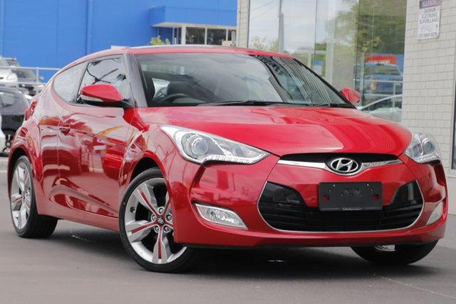 Used Hyundai Veloster FS2 + Coupe, 2013 Hyundai Veloster FS2 + Coupe Red 6 Speed Manual Hatchback