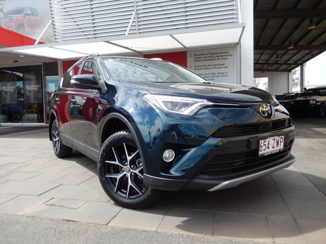 Used Toyota RAV4 ASA44R GXL AWD, 2018 Toyota RAV4 ASA44R GXL AWD Peacock Black 6 Speed Sports Automatic Wagon
