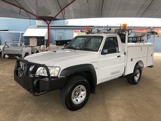 2011 Nissan Patrol MY11 Upgrade DX (4x4) White 5 Speed Manual Leaf Cab Chassis