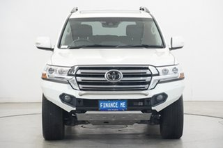 2019 Toyota Landcruiser VDJ200R Sahara Crystal Pearl 6 Speed Sports Automatic Wagon.