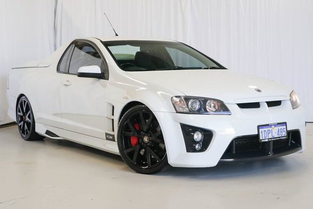 Used Holden Special Vehicles Maloo E Series MY09 R8, 2008 Holden Special Vehicles Maloo E Series MY09 R8 White 6 Speed Manual Utility